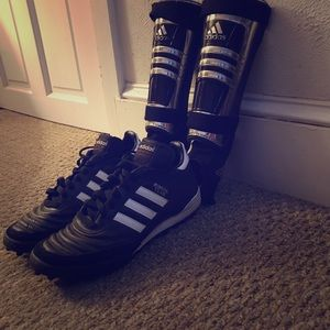 Adidas Cleats & shin guards